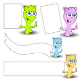 Monsters with posters Stock Image