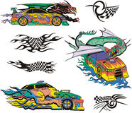 Monsters and racing cars Royalty Free Stock Photos