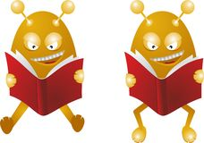 Monsters read books Royalty Free Stock Image