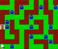 Monsters, retro style game pixelated graphics. Monsters, retro old style game pixelated graphics Royalty Free Stock Images