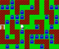 Monsters, retro style game pixelated graphics. Monsters and rabbit, retro style game pixelated graphics Stock Photography