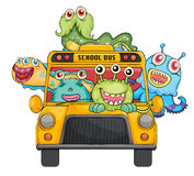 Monsters and school Stock Photo