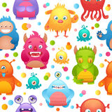 Monsters seamless pattern Stock Image