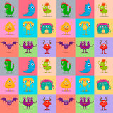 Monsters seamless pattern. Stock Image