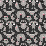 Monsters seamless pattern. Stock Photography