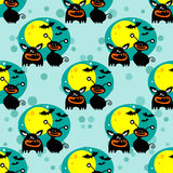 Monsters seamless pattern Royalty Free Stock Images