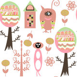 Monsters seamless pattern. It is located in swatch menu, Stock Photo