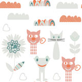 Monsters seamless pattern. It is located in swatch menu, Stock Photos