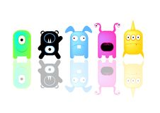 Monsters  - Series 1 Royalty Free Stock Image