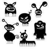Monsters set stock illustration
