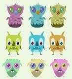 Monsters set stock photo