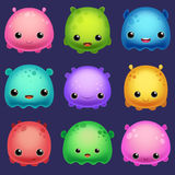 Monsters. Set of cute cartoon monsters Stock Image