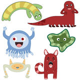 Monsters 2. Set of cute little Japanese style monsters Stock Images