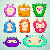 Monsters set Royalty Free Stock Photos