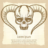 Monsters skull on vintage background Royalty Free Stock Images