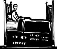 Monsters under bed Royalty Free Stock Photography