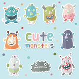 Monsters_Vector01 Imagem de Stock