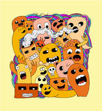 Monsters vector pattern. Funny colors monsters vector pattern Stock Photography