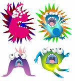 Monsters, viruses and bacteria, Stock Image