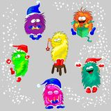 Monsters in the Winter Stock Images