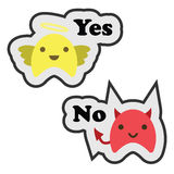 Monsters yes no Stock Images