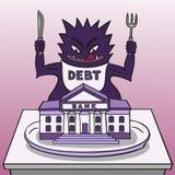 Monsterschuld. stock illustratie