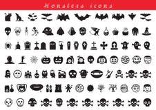 Monsterspictogrammen Royalty-vrije Stock Fotografie