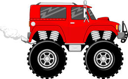 Monstertruck cartoon vector stock illustration