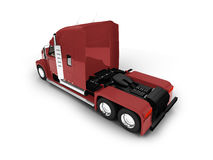 Monstertruck isolated red back view Stock Photos