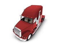 Monstertruck isolated red front view Royalty Free Stock Image