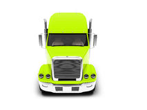 Monstertruck isolated yellow front view Stock Images