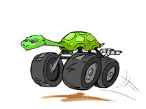 Monstertruck turtle Royalty Free Stock Photo