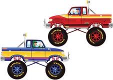 Monstervrachtwagens en bestuurder Stock Afbeeldingen