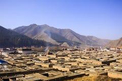 Monstery de Labrang en China de Gansu Imagen de archivo libre de regalías