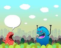 Monsterzeichen in der Stadt Lizenzfreie Stockfotos