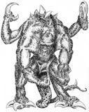 Monstor com garras Ilustração do Vetor