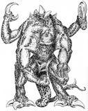 Monstor con le branche illustrazione vettoriale
