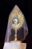 Monstrance with the body of Christ.  Stock Photography