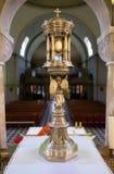 Monstrance, iglesia del santo Blaise en Zagreb imagenes de archivo