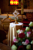 Monstrance in some lithuanian Roman Catholic church Royalty Free Stock Photography
