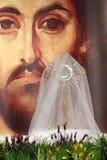 Monstranz mit dem Körper von Christus Stockfotos