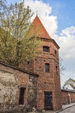Monstranz-Turm Baszta Monstrancja in Podmurna-Straße in Torun in Polen Stockfotografie