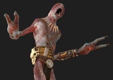 monstre de démon d'abat-jour de l'illustration 3D d'isolement sur le fond gris illustration libre de droits