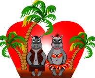 Monstre de deux amoureux. illustration libre de droits