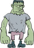 Monstre de Frankenstein de bande dessinée Image stock