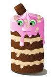 Monstre de gâteau Illustration de Vecteur