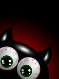 Monstre de Halloween avec les yeux verts avec l'endroit pour le texte Image stock