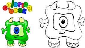 Monstre de livre de coloriage Image stock