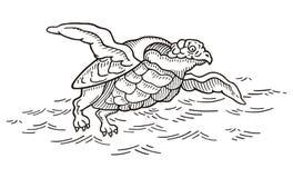 Monstre de mer carnivore illustration de vecteur