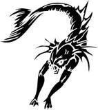 Monstre de mer - illustration de vecteur. Vinyle-prêt. Images stock